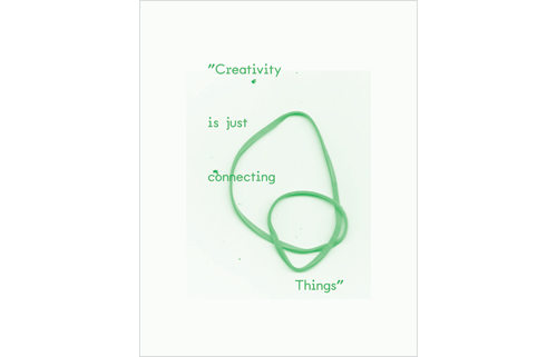 creativity is just connecting things waste tracking