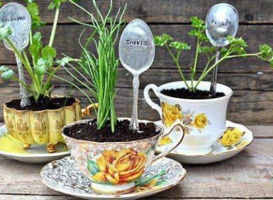 waste tracking wastetracking recycle gardening cups with spoons